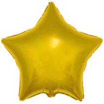 20 Baloes 45cm Metalizados Estrela Coração Chá De Bebe Festa