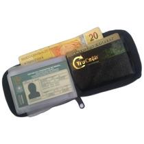 Mini,carteira,masculina,couro,legítimo,fechamento Com Ziper