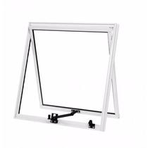 Maxim Ar 0,80 X 0,60 Alumínio Branco Vidro Mini Boreal