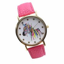 Hermoso Y Elegante Reloj Con Caballo / Cebra