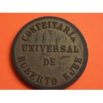 Rara Ficha Particular Confeitaria Universal De Roberto Bube