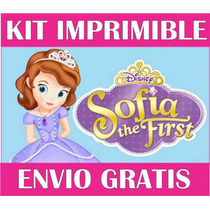 2x1 Princesa Sofia Kit Imprimible Invitaciones + Regalo