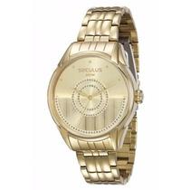Relógio Seculus Feminino Moderno 28651lpsvda1 2 Anos De G.