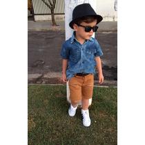 Shorts Infantil Menino Masculino Bermuda Infantil Jeans