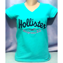 Kit C/10 Camisetas T-shirts Femininas Hollister R$174,99 Ofe