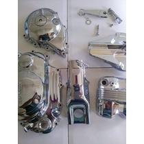 Kit Tampas Para Titan / Fan / 150 / Cromados