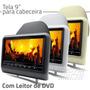 Dvd De Encosto Cabeça Com Tela Lcd 9 Polegadas Portatil