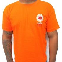 Camiseta Samu Laranja - Estampado Nas Costas