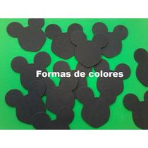 Aplique Silueta En Goma Eva - Mickey 15 Unidades