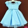 Vestido Frozen Cinderela Princesa Infantil Com Luvas E Coroa