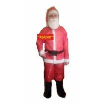 Disfraz De Papa Noel Completo Barba Gorro Cinturon Navidad