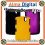 Forro Doble Plastico Silicon Blackberry Pearl 8300 Estuche