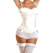 Finisimo Y Sexy Corset Blanco Tasa Armada