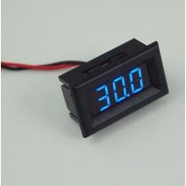 Voltímetro Digital Mini Medidor Bateria Som Auto 2 Ou 3 Fios