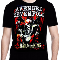 Camiseta Manga Curta Avenged Sevenfold Rei Ref=329
