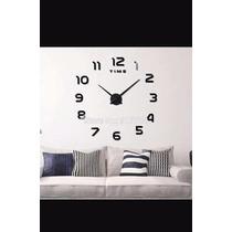 Reloj Diy 3d Moderno Decorativo Tipo Espejo De Pared Varios