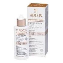 Protetor Solar Fluid Tonalizante Fps 40 Facial Beige Adcos