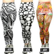Calça Legging Estampada Suplex Saia Tapa Bumbum Fitness