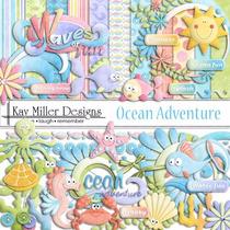 Kit Scrapbook Oceano Hello Kitty Png