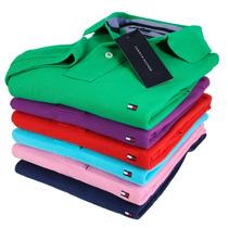 4 Camisas Masculina Polo Tommy 100% Algodão Piquet Frete Gra
