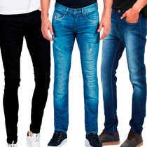 Kit 3 Calças Jeans Masculina Skinny Atacado Revenda