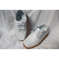 Zapatos Niño Cuero Blanco Para Primera Comunión 100% Nuevos