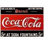 Trio De Placas Coca Cola Decoração P/ Cozinha Bar Lanchonete