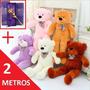 Oso De Peluche Gigante 2 Metros Grande + Rosa Y Envío Gratis