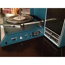 Vitrola Portátil Crosley Spinnerette Azul Usb Vintage Retrô