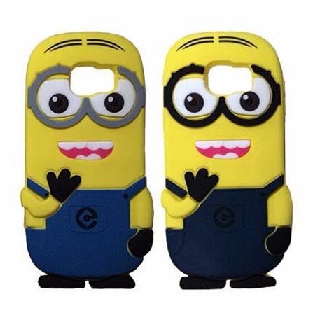 3ce6dc86503 Funda Silicona Animada 3d Minion Para Samsung Galaxy S6 - $ 49,99 en  Mercado Libre