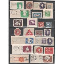 L409-estados Unidos Fragmentos De Enteros Postales-