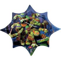 Globo Tortugas Ninja 6 Pza Medida 14 Pulgadas Centro De Mesa