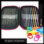 Agujas Crochet Set 22 Piezas + 20 Ganchitos Y Estuche Regalo