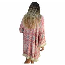 Kimono Saco Con Flecos Mujer The Big Shop