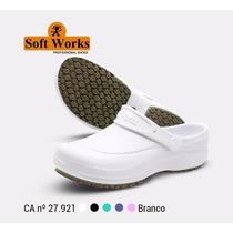 Crocks Soft Works Profissional: Enfermagem - Epi - Branco