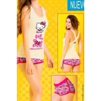 Vicky Form Teens Pijama Playera Short Hello Kitty Mod.4614