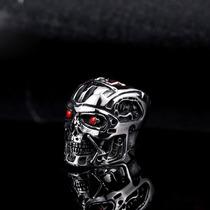 Anillo Terminator T-800 Acero Inox Craneo Calavera Skull