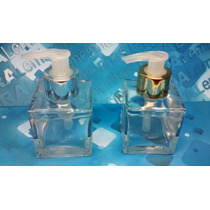 50 Frascos Vidro Cubo 100 Ml Válvula Saboneteira R28 Luxo
