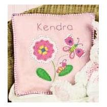 Kit De Fieltro Para Elaborar Cojín Infantil Rosa