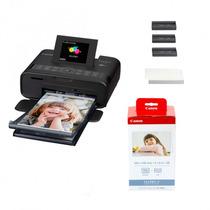 Impresora Selphy Cp-1200 Negra Papel Tinta Y Bateria Kastar