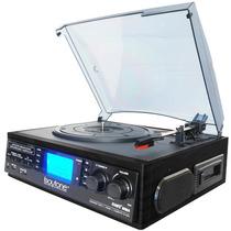 Boytone Tornamesa Vinil Acetato Casetera Radio Convierte Mp3