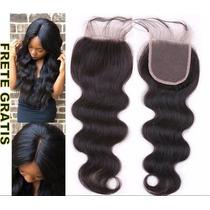 Top Closure Com Baby Hair Prótese Capilar Feminina 45cm
