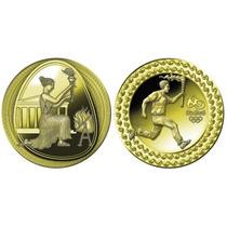 Medalha Tocha Olímpica Elo Entre O Antigo E O Moderno
