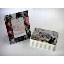 Portarretrato Marilyn Monroe Y Caja Lata Vintage Decoración