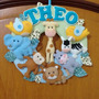 Guirlanda Safari Porta Maternidade Enfeite Feltro Gl028