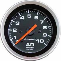 Pressão Do Ar Suspensão Cronomac Sport 52mm Manômetro + Neon