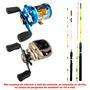 Kit Carretilhas Marine Sports Caster+elite+ 2 Varas