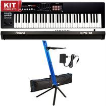 Kit Teclado Sintetizador Roland Xps-10 Pads Suporte Stay Bag