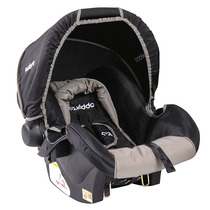 404l - Bebê Conforto Cosycot Lisboa Preto E Bege Lenox Kiddo