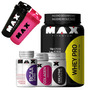 Whey Protein 1kg + Bcaa + Creatina + Colageno - Max Titanium